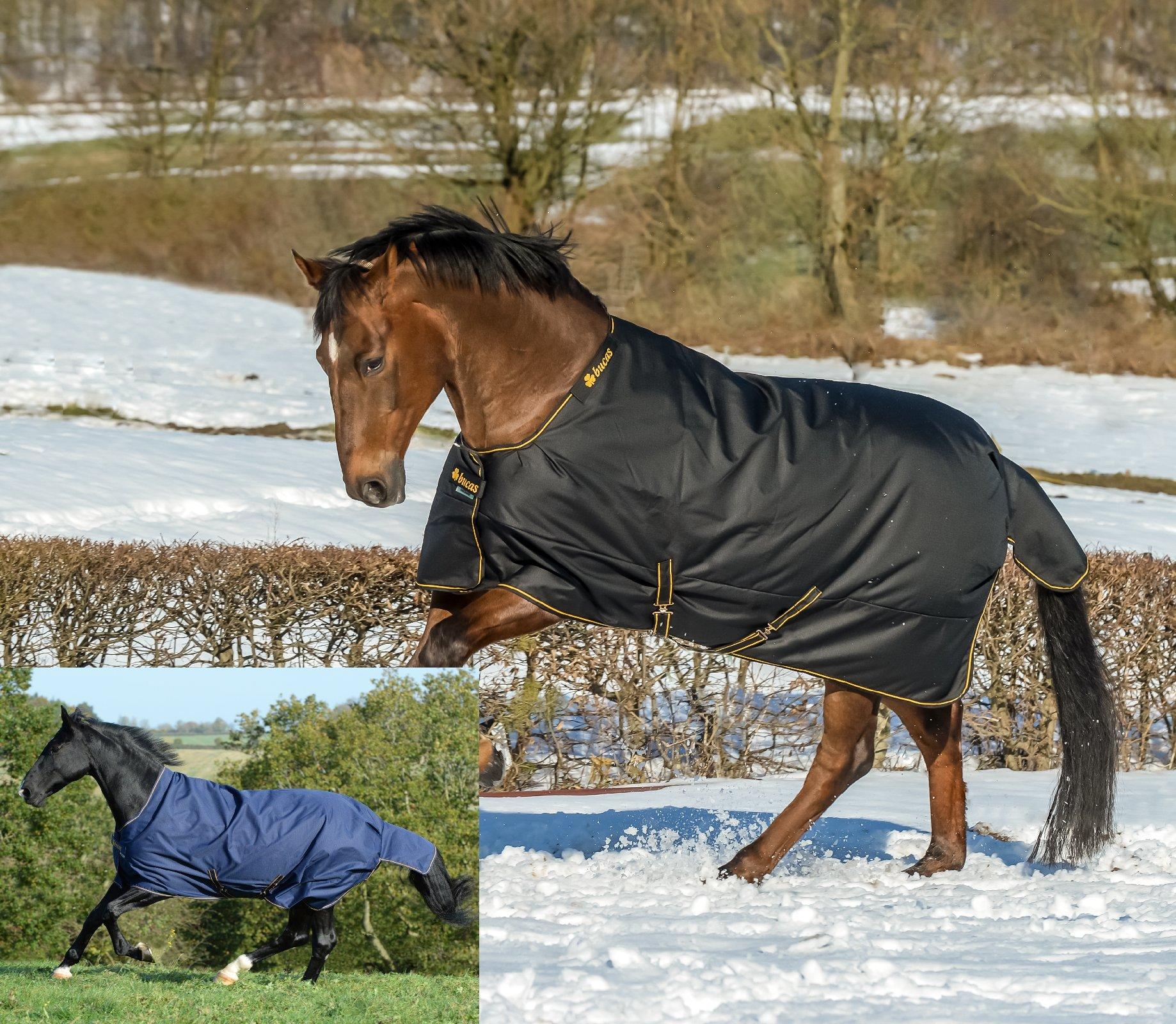 Bucas Irish Turnout Extra High Neck Weidedecke Regendecke Winterdecke schwarz