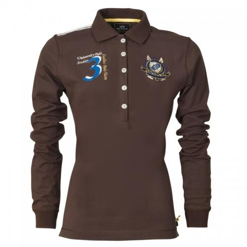 HV Polo Langarm-Poloshirt Blanca Dark Brown