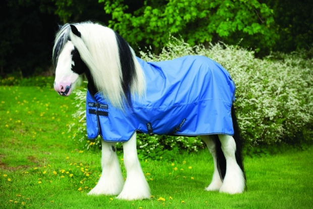 Amigo Hero 6 XL lite colony blue Regendecke für kräftige Pferde