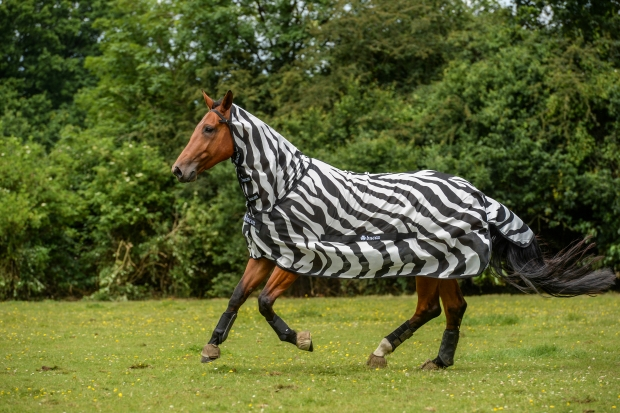 Bucas Buzz OFF Fliegendecke Full Neck Zebra