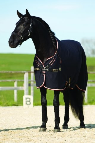 Horseware Rambo Stalldecke Grand Prix Helix lite black