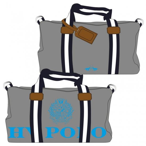 Hv Polo Handtasche Canvas Sportsbag Gias grey-turquoise