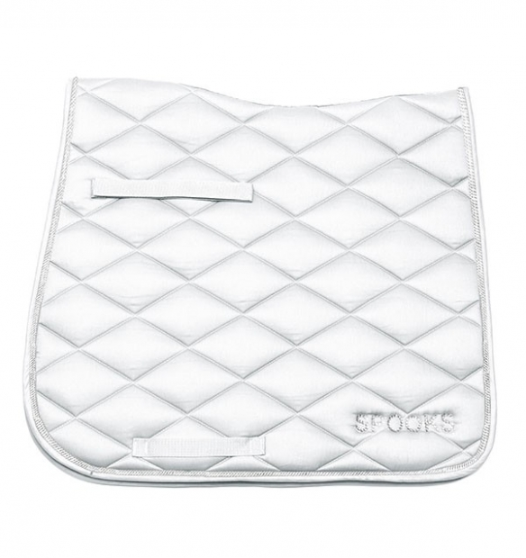 Spooks Riding Schabracke Saddle Pad sparkling white weiß DR oder VS