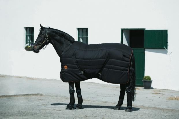 Horseware Rambo Ionic Stable Rug Black/Orange