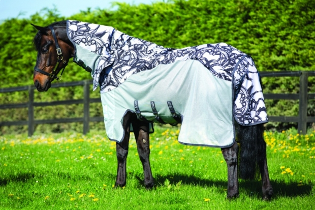 Horseware Amigo Three-In-One Vamoose silver/black bedruckt