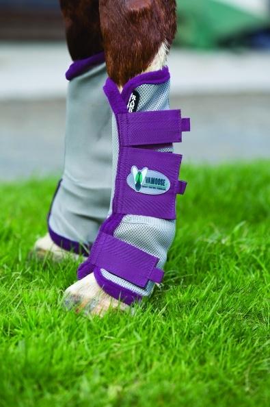 Horseware Rambo Fly Boots Vamoose Gamaschen Silver/Purple