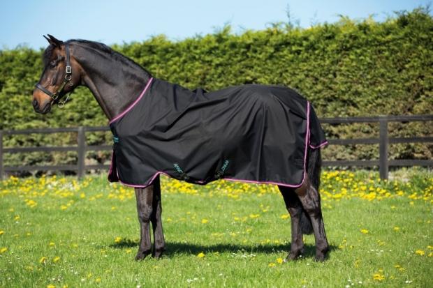 Horseware Amigo Turnout Hero 6 lite Black with Purple & Mint