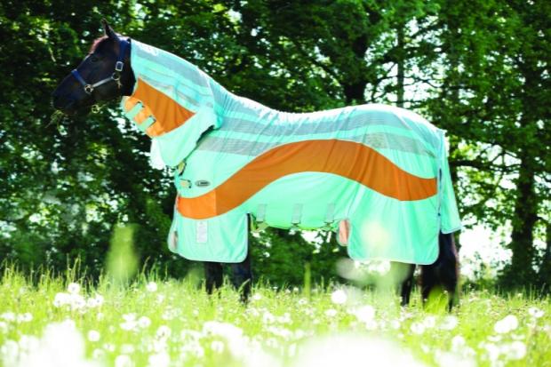 Horseware Amigo Evolution Fliegendecke Aqua / Orange