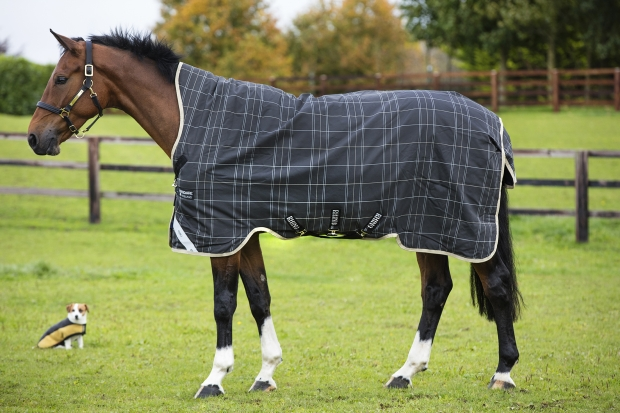 Horseware RHINO  WUG 250g medium VARI- LAYER Regendecke Black/ grey