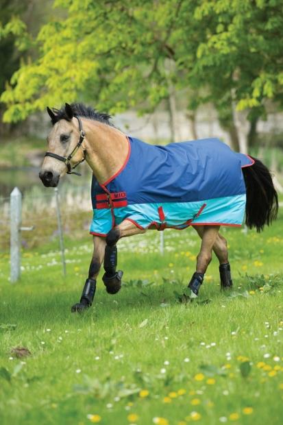 Horseware Amigo Mio Turnout lite Dark Blue/Aqua Regendecke