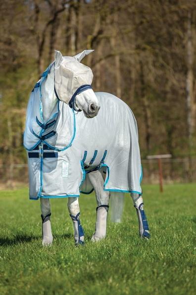 Horseware Amigo Bug Buster Vamoose Fliegendecken silver/ electric blue Model 2020