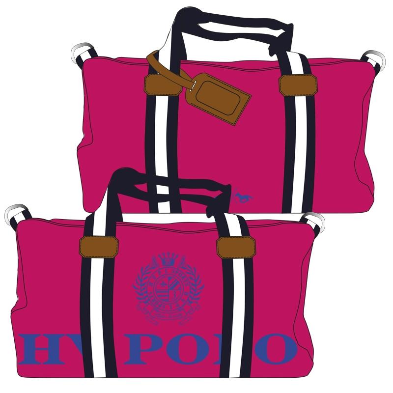 Hv Polo Handtasche Canvas Sportsbag Gias Pink Cobalt