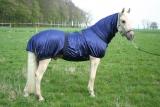 Hafer24 Fliegendecke Ekzemerdecke Weidedecke Royal 85-165cm blau