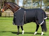 Horseware Rambo Optimo Weidedecke ohne Füllung schwarz (black/ orange)