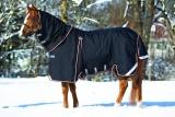 Horseware Rambo Optimo mit 400 g Liner und Halsteil schwarz (black/ orange)