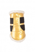 4189 HKM Gamaschen Comfort Lack gold/weiss