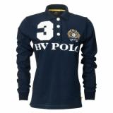 HV Polo Langarm-Poloshirt Alma Navy