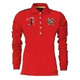 HV Polo Langarm-Poloshirt Blanca Red