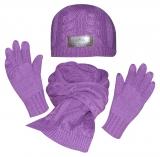 HV Polo Winter-Set Mütze, Schal, Handschuhe violett