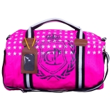 Hv Polo Handtasche Canvas Star Sportsbag CROWN Fluor Pink