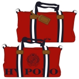 Hv Polo Handtasche Canvas Sportsbag Gias red-navy