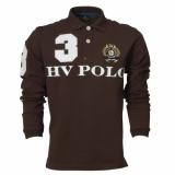 HV Polo Herren-Langarm-Poloshirt Alonso Dark Brown