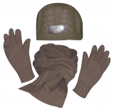 HV Polo Winter-Set Mütze, Schal, Handschuhe dark brown