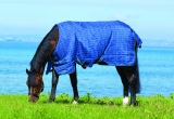 Horseware Rhino Original lite Regendecke navy -light blue + Magic Brush