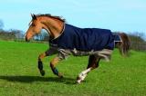 Horseware Amigo Mio Turnout lite navy-tan Regendecke