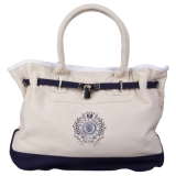 HV Polo Cotton Canvas Handtasche Sand/Navy