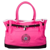 HV Polo Cotton Canvas Handtasche Candy/Black