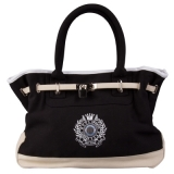 HV Polo Cotton Canvas Handtasche Black/Sand