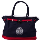 HV Polo Cotton Canvas Handtasche Navy/Cayenne