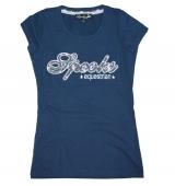 Spooks Riding Flower Shirt navy blau
