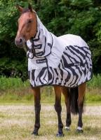 Bucas Buzz-Off Rain Zebra Full Neck Fliegendecke Regendecke Ekzemerdecke