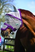 Horseware Rambo Plus Fly Mask Vamoose Gesichtsmaske Silver/Purple