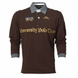 HV Polo Herren-Langarm-Poloshirt Manolo Dark Brown