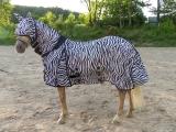 Hafer24 Gurad Fliegendecke Weidedecke zebra als Set mit Fliegenmaske