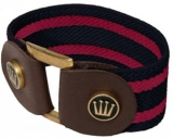Spooks Riding Striped Bracelet Stretcharmband mit Leder navy-rosa Size 1